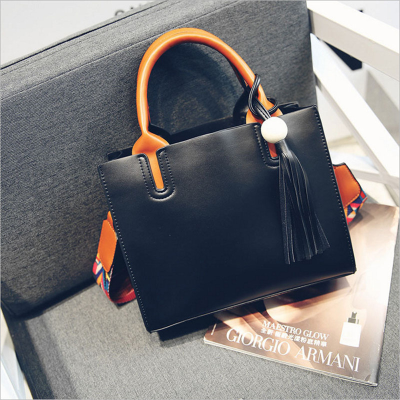 YBYT brand 2017 new fashion joker tassel satchel hotsale PU leather ladies shopping bag women shoulder messenger crossbody bags