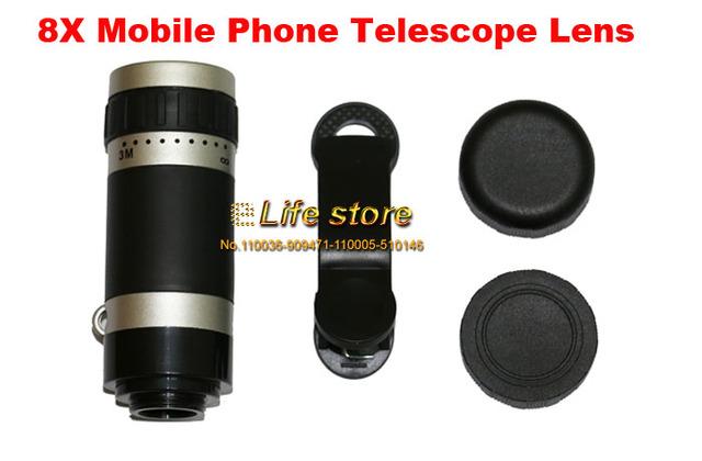 8X Zoom Óptico Del Teléfono Móvil Lente Del Telescopio Clip Universal Para Doogee F7 Pro, Doogee Y6 X9 Pro, Doogee Turbo 2 DG900 X9 MINI T5S
