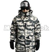 """Выпуск """"Southplay"""" Зимние 10000 мм Водонепроницаемый для катания на лыжах и сноуборде потепление(куртка и брюки)-белого цвета в стиле милитари"""