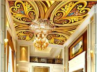 3d ceiling wallpaper Extremely luxurious photo wallpaper 3d mural photo wall 3d wallpaper ceiling Jewelry flower pattern