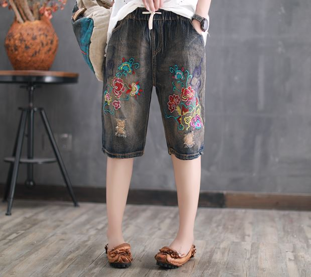2018 Special Offer Shorts Women New Mens Ripped Short Jeans Embroidery Brand Clothing Summer Cotton Breathable Female