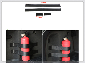 Car accessories parts fire extinguisher belt line fixing bracket velcro for Toyota FJ Cruiser RAV4 CROWN REIZ PRIUS COROLLA image