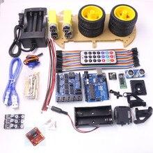 Inteligentny Samochód Podwozie Robota Zestaw do Arduino Bluetooth garnitur Śledzenia Kompatybilny UNO R3 DIY ZESTAW RC Elektroniczny Darmowa Wysyłka