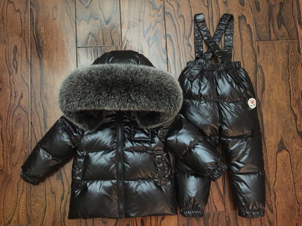 winter Children's Sets Boy and girl down jacket Thick ski suit