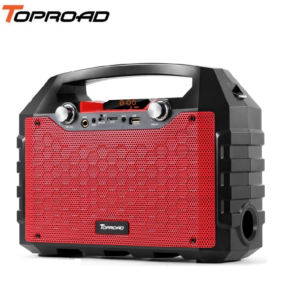 TOPROAD Portable 40W Big Power Bluetooth Speaker Wireless Subwoofer Deep Bass Speakers Support Remote Control FM