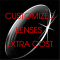This can't be order alone, customized Prescription Lenses Extra Cost Use Only