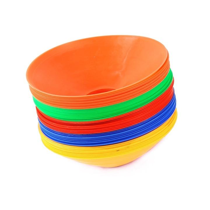 10pcs Soccer Discs Bucket Marker Football Training Accessories Training Sign Flat Pressure Resistant Cones Marker