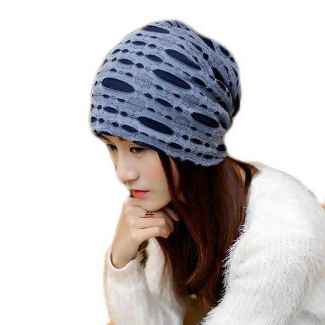 4e271219e0f Female autumn winter spring cotton line striped scarf hat Ms. hedge fashion  maternal child women