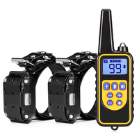 800m Electric Dog Training Collar Pet Remote Control Waterproof Rechargeable with LCD Display for All Size Bark stop Collars