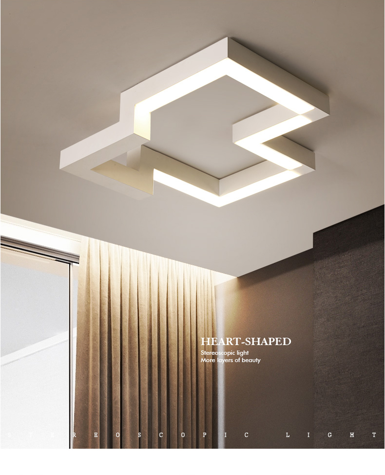 2019 LED Living Room Ceiling Lights Creative Fixtures Illumination Geometry  Ceiling Lamps Home Modern Bedroom Lighting From Alluring, $161.58 | ...