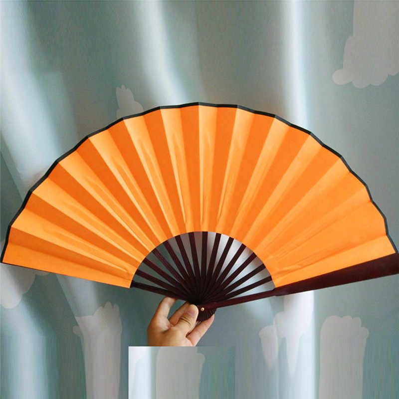 Folding Hand Fan Men's Black Bamboo Spun Silk Calligraphy Painting Writing  Dancing Chinese Held Fans Wedding Party Favor favors party party favors  weddingwedding favors fan - AliExpress