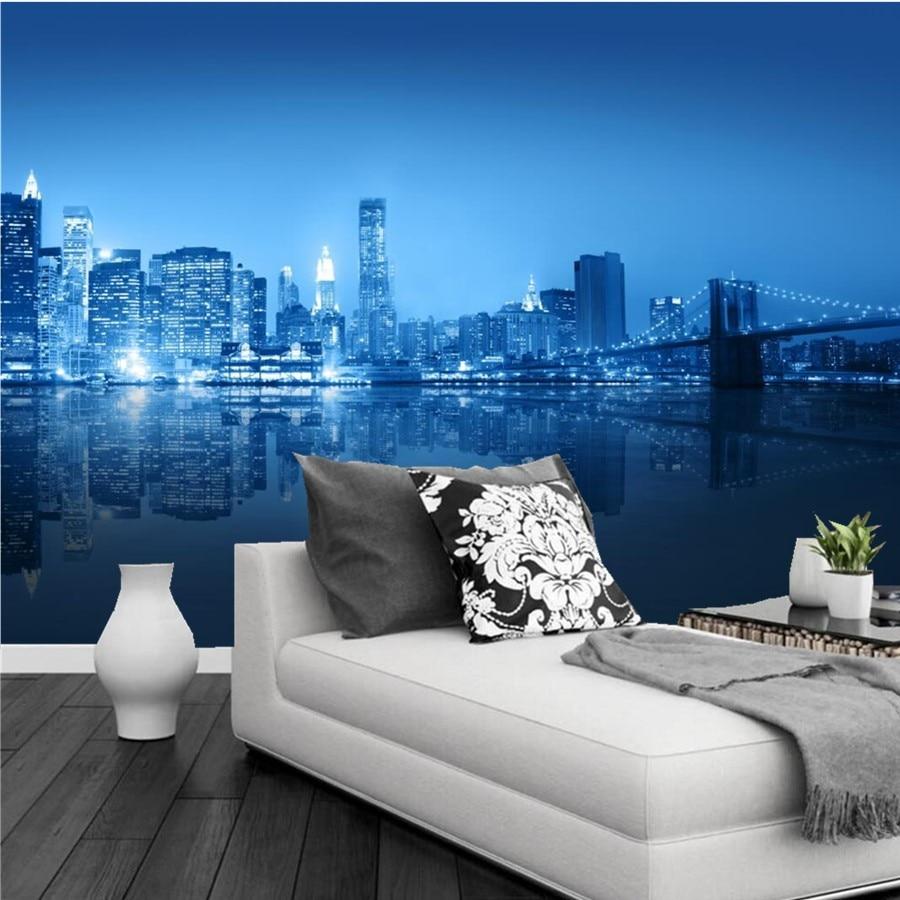 Best Wallpaper Night Aesthetic - Custom-large-mural-Aesthetic-New-York-city-building-bridge-night-view-wallpaper-living-room-tv-wall  Best Photo Reference.jpg