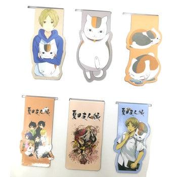 6pcs Natsume Yuujinchou Anime Magnetic Bookmark Cartoon Magnet Bookmark Child Student Kawaii Gift Bookmarks Office Stationery natsume yuujinchou natsume takashi cat printing long coin purse pu anime women wallet kawaii female purse student phone bags