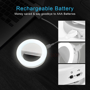 Image 4 - FANGTUOSI Selfie Ring Light Portable Flash Led Camera Phone Photography Enhancing Photography USB Charge Ring Light for iPhone