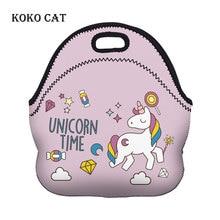 купить 3d Unicorn Printed Thermal Insulated Neoprene Lunch Bags for Women Meal Prep Bag Kids Picnic Bags Lunch Boxs Tote Dachshund Box по цене 712.1 рублей