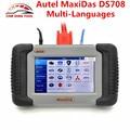 Original autel maxidas ds708 universal automotive ferramenta de diagnóstico autel ds708 wi-fi scanner online update suporte gasolina & diesel