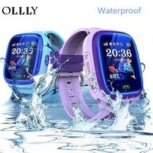 OLLLY Kids Smart Watch IP67 Waterproof Watch DF25 Clock SOS Call WIFI Location Device Tracker Kids Safe Anti-Lost Monitor