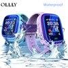 OLLLY Kids Smart Watch IP67 Waterproof Watch DF25 Clock SOS Call WIFI Location Device Tracker Kids