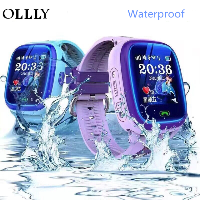 Ollly Детские умные часы IP67 Водонепроницаемый часы df25 часы sos-вызов WI-FI местоположение устройства трекер дети Безопасный анти-потерянный мониторы