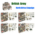 New Arrival World War 2 UK British 8th Army North African Campaign Figures Military Model Building Blocks Brick Toy DOLL D173