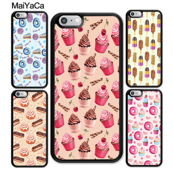 MaiYaCa Chocolate Cakes Eclairs Sweets & Treats Soft TPU Skin Cell Phone Cases For iPhone 6 6S Plus 7 Plus 8 X 5S SE Back Cover