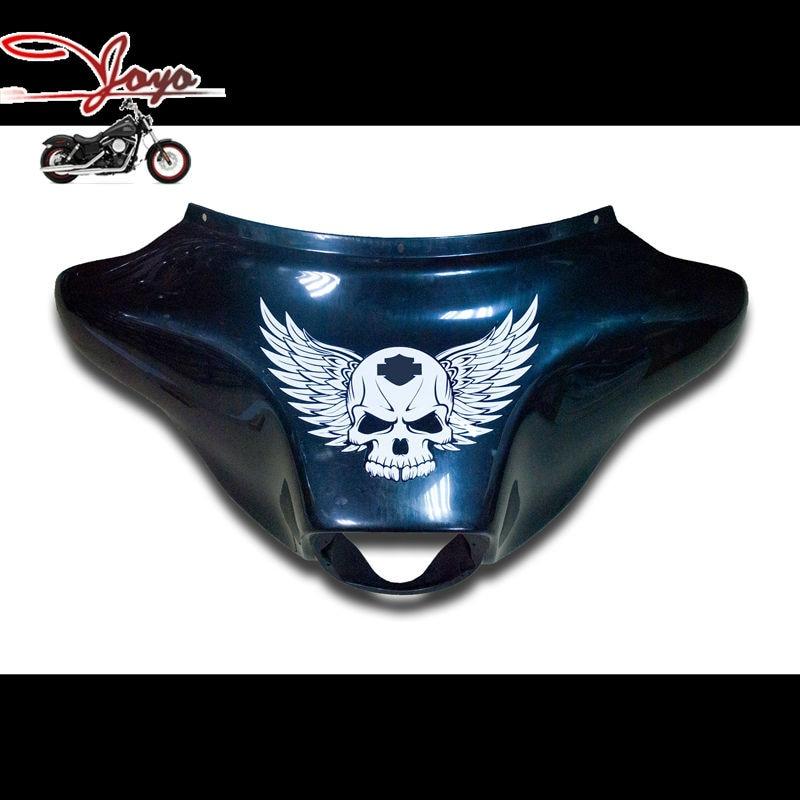 ٩(^‿^)۶Motocicleta cráneo alas carenado decalques para Harley ...