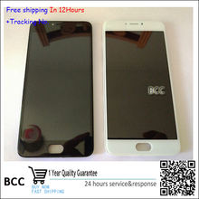 White or Black LCD Display +Touch Screen Digitizer Assembly with frame For Meizu meilan note3 in stock!