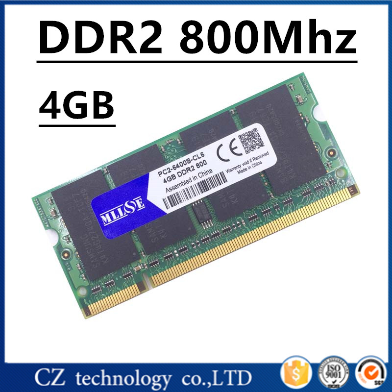 Prix pour MLLSE mémoire ram DDR2 4 gb 8 gb 800 Mhz PC2-6400 sodimm ordinateur portable notebook, memoria ram ddr2 4 gb 800 Mhz pc2 6400, ddr 2 4 gb ram