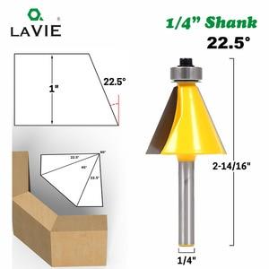 """Image 3 - LA VIE 1 st 1/4 """"Shank 15 Graden 22.5 Graden Afschuining Bevel Rand Router Bit Frees voor Hout houtbewerking Bits MC01027"""