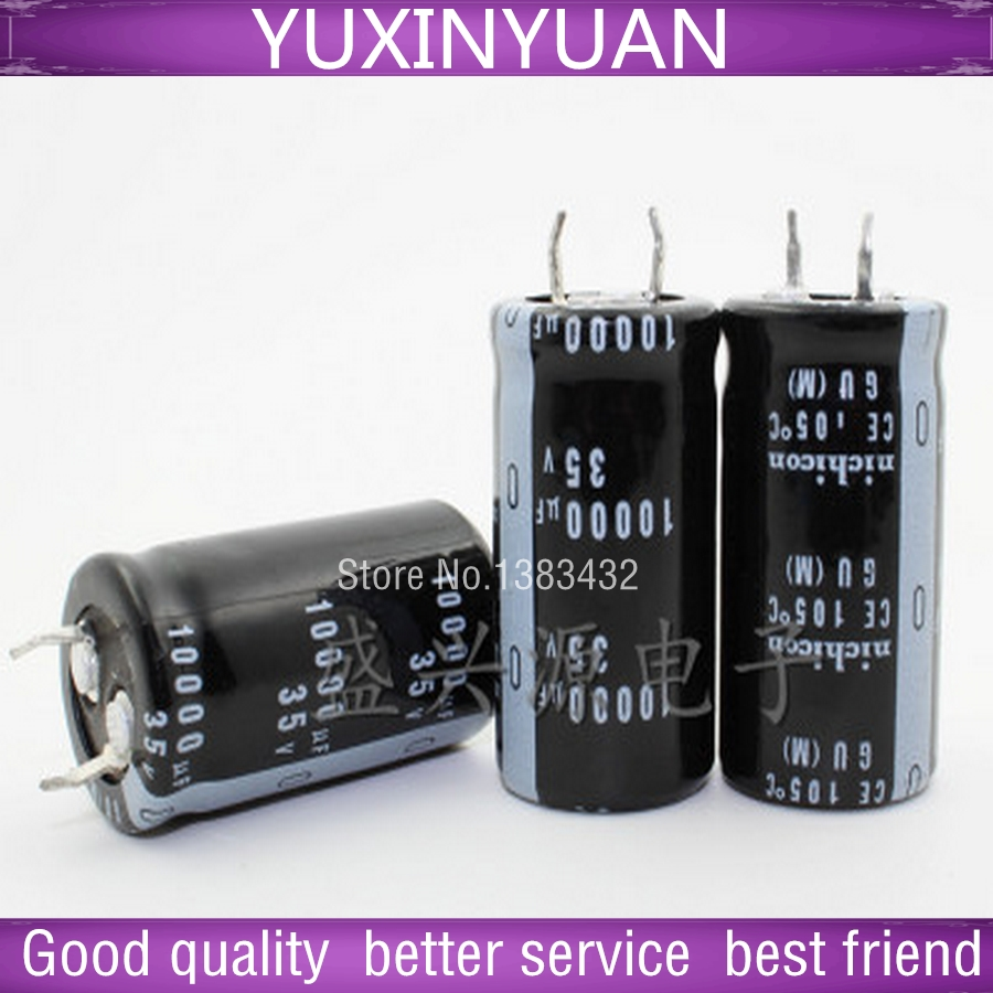 2PCS/lot motherboard aluminium electrolytic capacitors 10000 uf / 35 v 22 x40mm into 22 * 40 mm <font><b>AliExpress</b></font> image