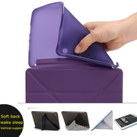 Nice Flexible Soft Back Tpu Silicone Case With PU Leather Front Smart Cover For Apple Ipad