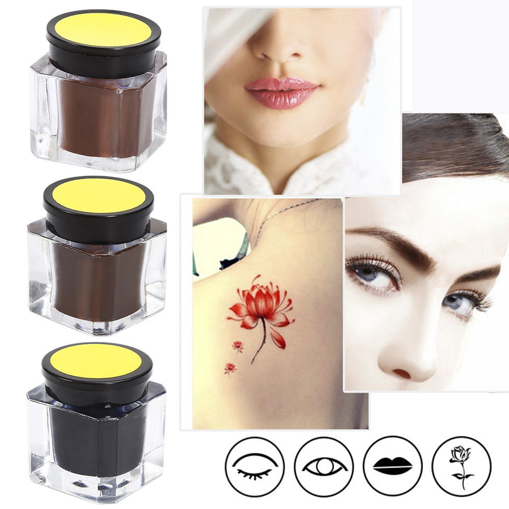 15g Eyebrow Tattoo Inks Semi Permanent Makeup Microblading Tattoo Ink Pigment For Beginners TSLM1