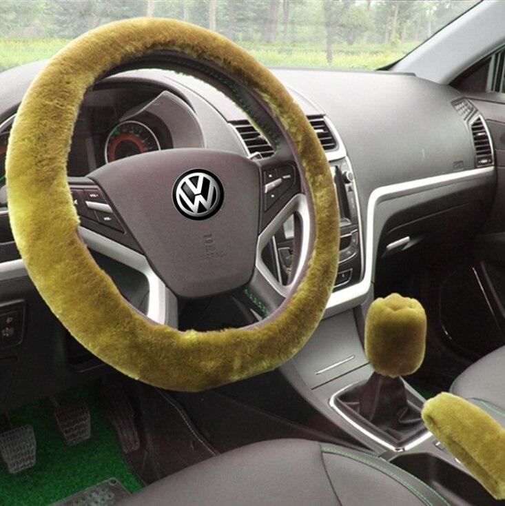 Winter Plush Car Steering Wheel Cover