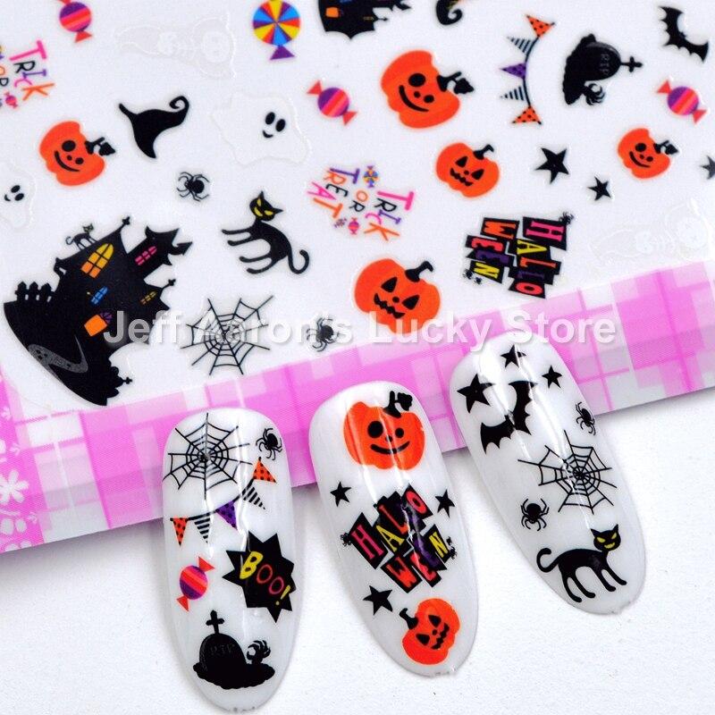 Aliexpress.com : Buy 4 sheets self adhesive Halloween nail ...