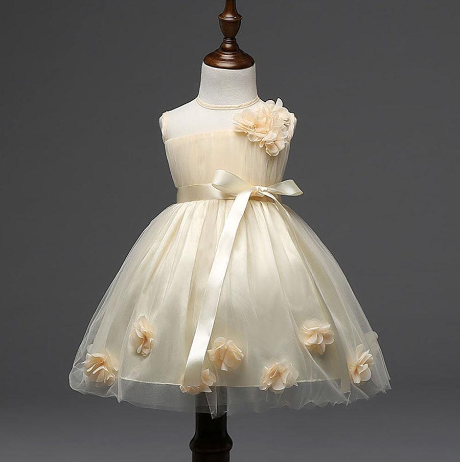 Mode Kinder Mädchen Kid Kleidung Design Baby Mädchen Beige Blume ...