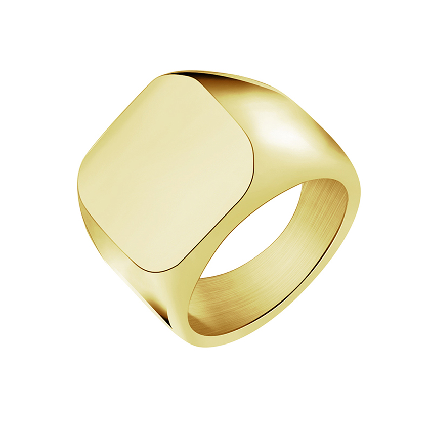 DCTVICT Geometry Square Knuckle Ring Men Jewelry 2018 New Hot Titanium Steel Anel Femme Punk Bague Gold Color Rings Women