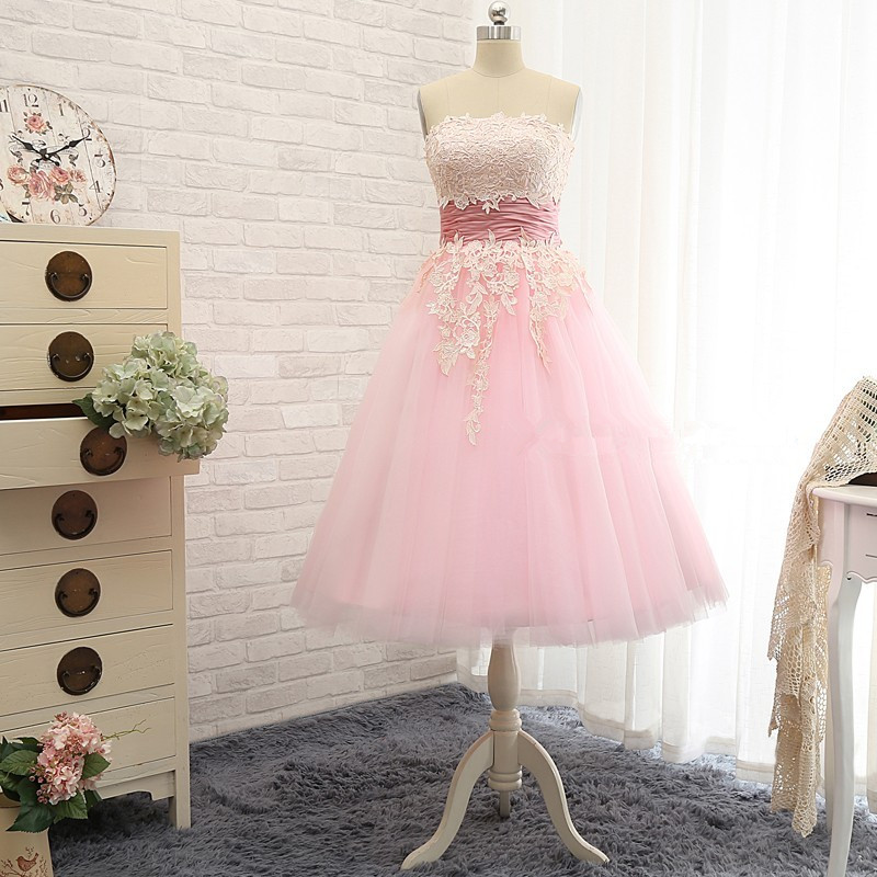 Bridal Short Light Pink Lace Appliques Homecoming Dresses 2018 Burgundy A-line Mini Dress Under 100 Free Shipping