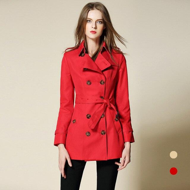 f26e30eeba151 BURDULLY Trench Coat For Women European British Style Leisure Duster Coat  plus Stand Collar Fashion Women s Coats Women