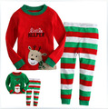 New arrival christmas children clothing set boys girls cute christmas pajama kids softness kids pajama set free shipping