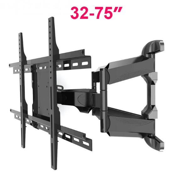 "Фото Retractable Universal 32""-75"" TV Wall Mount Heavy Duty Rotation Tilt LCD LED monitor/ tv Bracket Arm VESA Max 600*400mm MA70A"