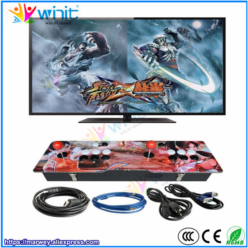 Здесь продается  Marwey Pandora moonlight box arcade game console 1388 games acrylic metal box 2 players joystick high definition TV, PC output  Спорт и развлечения