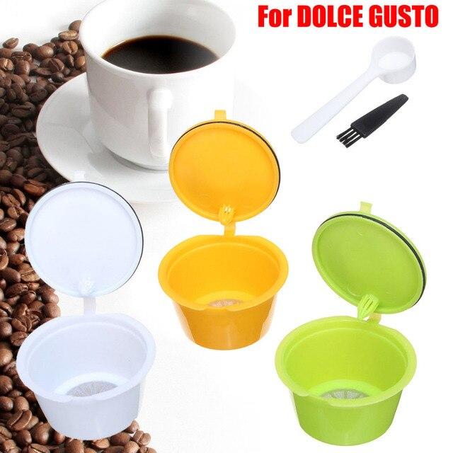 Reusable Coffee Capsules Spoon Brush