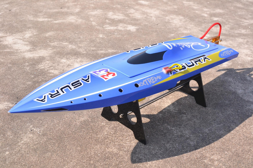 DTRC Mono 2 H750 ASURA Fiberglass Electric Brushless RC Boat w/ 3674 Water Cooling motor & 120A Hobbywing ESC, CNC Metal Prop.