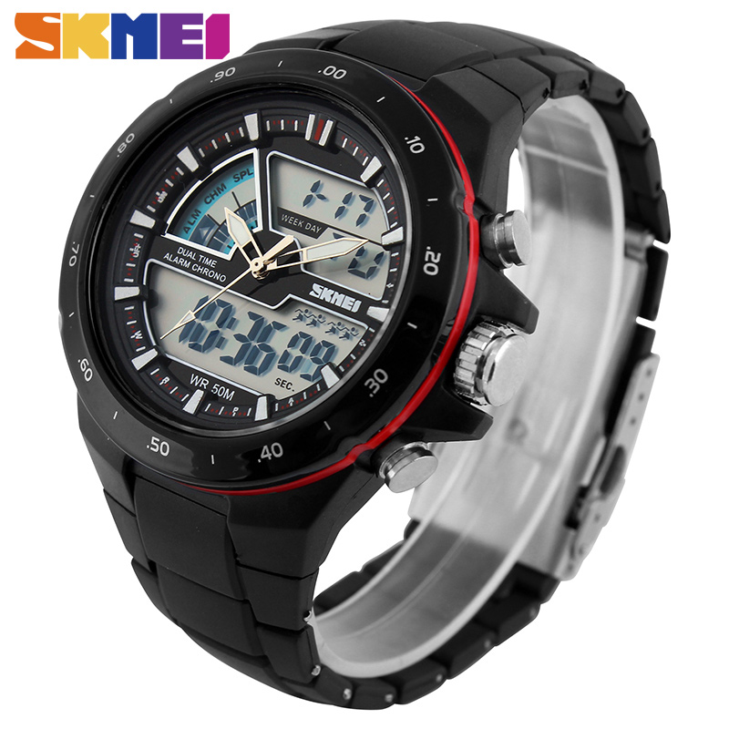 SKMEI Sport Watch Men Fashion Casual Alarm Clock Waterproof Military Chrono Dual Display Wristwatches Relogio Masculino 1016
