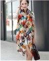 Envío libre 2017 bufandas mujeres novel figura de dibujos animados de moda de south park gasa de la impresión de seda bufandas mujer del mantón del cabo