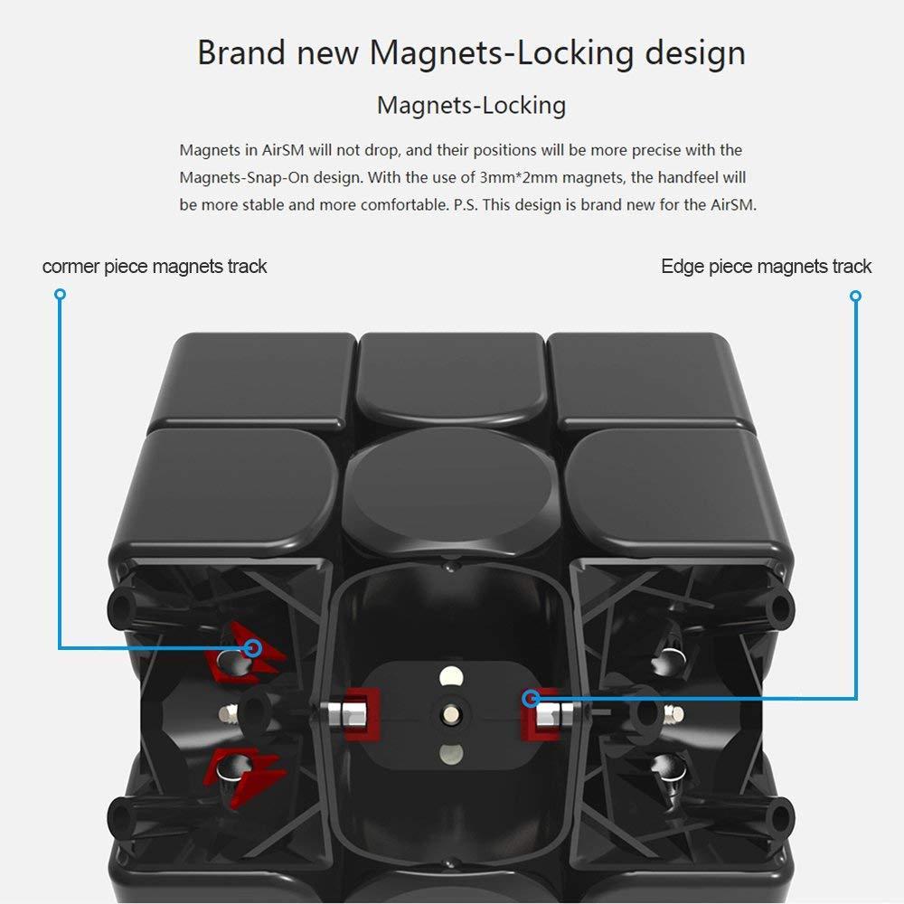 D-fantix Gan 356 Air SM Cube magnétique Gan356 3x3x3 Gans Cube vitesse 3x3 Puzzle jouets pour compétition professionnelle - 6