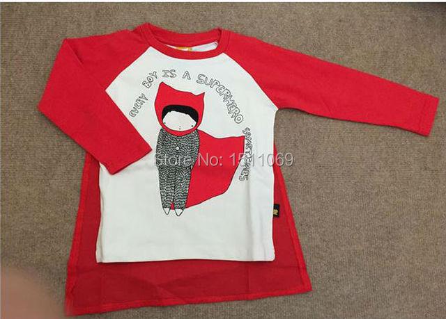 Bebê super herói camisa T crianças t-shirt do bebê menino camiseta de marca crianças primavera roupas de outono