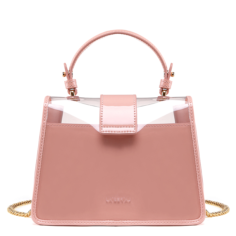LAFESTIN Women Candy Jelly Shoulder Bag Ice Cream Pattern Flap Clear  Transparent Crossbody Bag Fashion Summer Beach Bag-in Shoulder Bags from  Luggage   Bags ... cf462a34c30ac