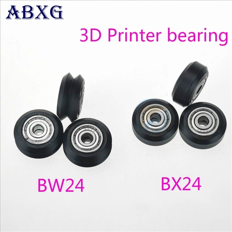 ABXG 5mm 625zz <font><b>625z</b></font> 625 V Type W Groove V Groove Passive Wheel Openbuilds 3D Printer Parts Pulley <font><b>bearing</b></font> 20 Profile Orbit image