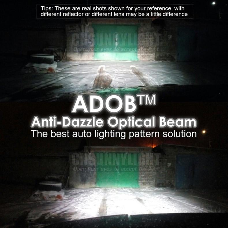 Led Car Headlight Lamp 9007 HB5 HiLo High Low ADOB Beam Turbo Leds Auto Headlight Bulbs Xenon 6000K White Lighting Source (10)